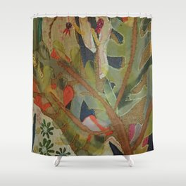 Exotic abstract patterns of nature Shower Curtain