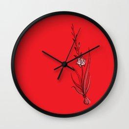 Gladiolus Flower Wall Clock