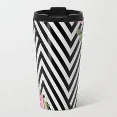 flowers geometric Travel Mug