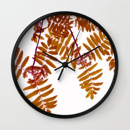 Fall Color Leaves White Background #decor #society6 #buyart Wall Clock