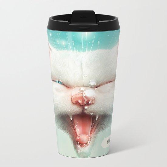 The Water Kitty Metal Travel Mug