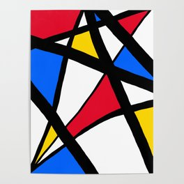Red, Yellow, Blue Primary Abstract Poster