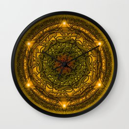 Happiness Mandala Wall Clock