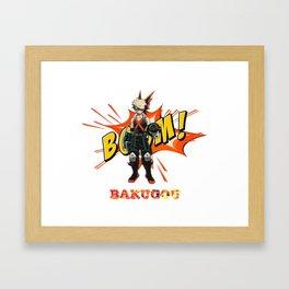My Hero Academia: Katsuki Bakugo - BOOOM!! Framed Art Print
