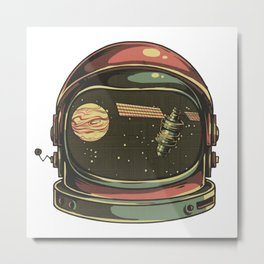 astronaut viewed Metal Print