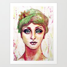 Steampunk Girl Art Print