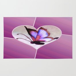 Butterfly Love - Lavender Rug
