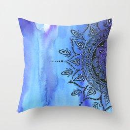 Blue MANDALA Throw Pillow