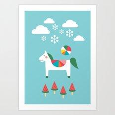 The Snowy Day Art Print