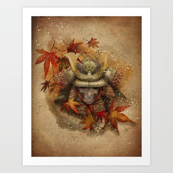 Late Autumn Samurai Art Print