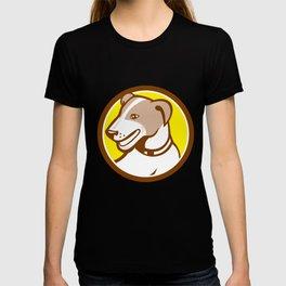 Jack Russell Terrier Head Circle Cartoon T-shirt