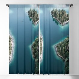 Lakeside Views at Sunset - Landscape Photography Blackout Curtain