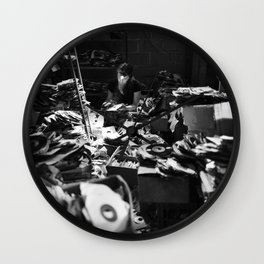Record digging at Eddie 3-Way, New Orleans, LA Wall Clock