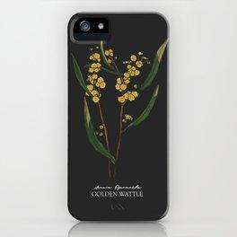 Golden Wattle (dark) iPhone Case