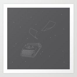 Typewriters in Space Art Print