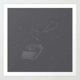 Typewriters in Space Art Print