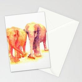 A couple of elephants Stationery Cards