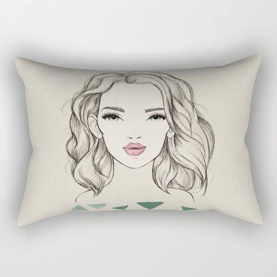 Green girl Rectangular Pillow