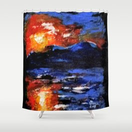 Good Morning Napoli Shower Curtain