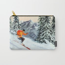 Skiing The Clear Leader Carry-All Pouch