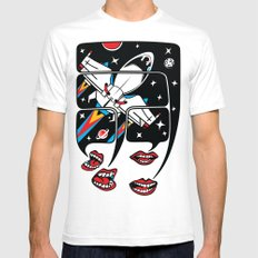 Let's talk about spaceships SMALL White Mens Fitted Tee