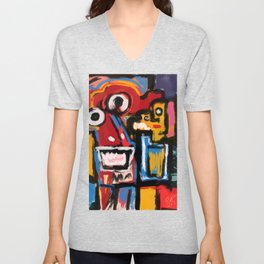 Art Brut Outsider Art Street Graffiti Unisex V-Neck