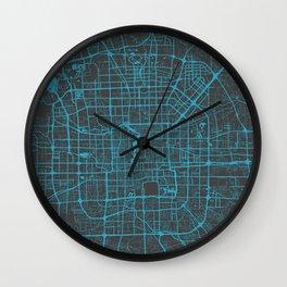 Beijing Map #2 map blue Wall Clock