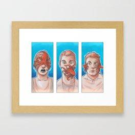 3 Wise Octopuses Framed Art Print