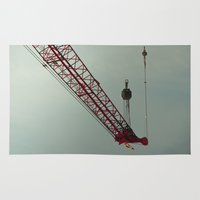 crane Area & Throw Rugs featuring crane by Kenny Voelker