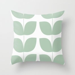 Mid Century Modern Leaves 02 #society6 #buyart Throw Pillow
