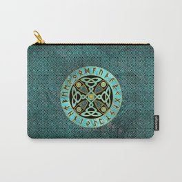 Decorative Celtic Cross  - and Runes alphabet Carry-All Pouch