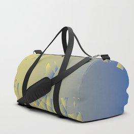 Pastel Blue & yellow crackle Duffle Bag