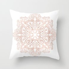 Mandala Rose Gold Pink Shimmer #society6 Throw Pillow