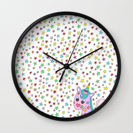 Rainbow the Unicorn Starstruck Wall Clock
