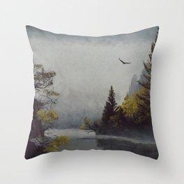 Misty Morning Throw Pillow