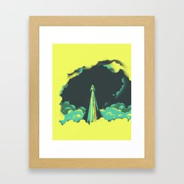 rad little rocket Framed Art Print