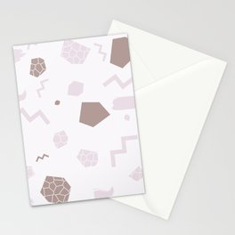 SHAPES PINK Stationery Cards