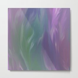 Pastel Feathers Abstract Metal Print