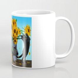 Cats with Sunflowers Coffee Mug