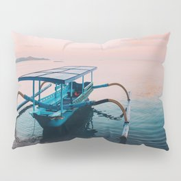 Indonesian boat at dawn Pillow Sham