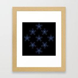 Blue Silk Framed Art Print