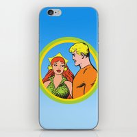 aquaman iPhone & iPod Skins featuring Aquaman and Mera Get Married Underwater by Hoboxia