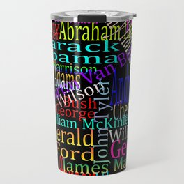Graphic Presidents Travel Mug