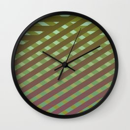 Variation of pattern by grey tones 4 Wall Clock