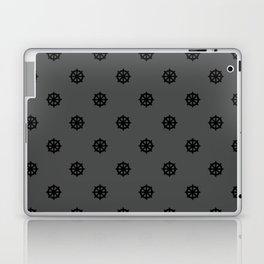 Dharma Wheel Pattern (grey) Laptop & iPad Skin