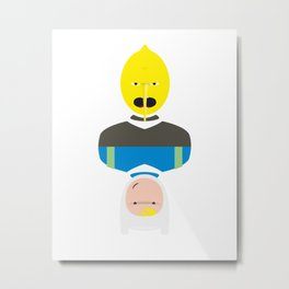 Earl Lemongrab & Finn Metal Print