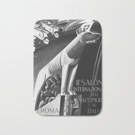 retro vintage 1929 Salone Internazionale dell Automobile poster Bath Mat