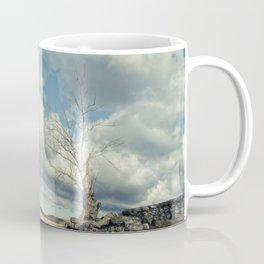 Dead Tree and Stone Wall - Split Toned Rural Landscape Photo Coffee Mug