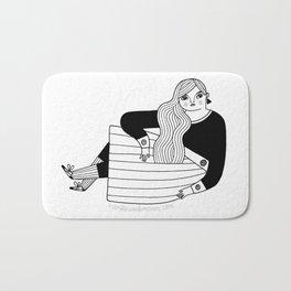 Black & White / Sassy Badass Bath Mat