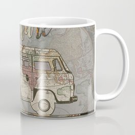 adventure awaits world map design 1 Coffee Mug